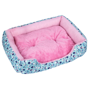Pet Beds with Waterproof Bottom Made of Plush Material Bed House Suitable for Small and Medium Sized Cats and Dogs