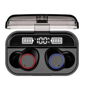 Image 4 - TWS X13 vano trasduttore auricolare senza fili Bluetooth 5.0 con display di potenza della batteria 5000mAh touch IPX7 impermeabile di tocco di controllo
