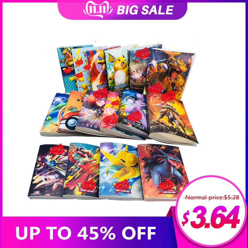 240 Pcs Album Toys Holder New Gift Pokemon Pikachu Card Collection Album Book Book Top Loaded List Playing Cards Pokemon Cards
