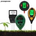 Цифровой измеритель почвы, тестер фертильности, PH, освещенности, влажности, влажности, садовый измеритель температуры почвы, 5 В 1/4 в 1/3 в 1/2 в ...