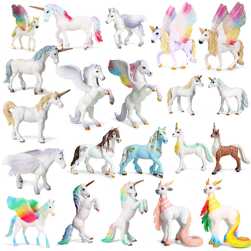 new Unicorn Doll <font><b>Toy</b></font> Simulation Mini Animal <font><b>Model</b></font> Unicorn <font><b>Horse</b></font> <font><b>Figure</b></font> <font><b>Model</b></font> Wild <font><b>Figures</b></font> Kids <font><b>Toys</b></font> Figurine image