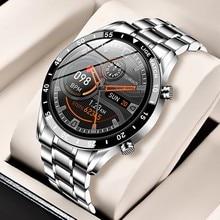 Часы наручные LIGE Мужские Цифровые, спортивные электронсветодиодный светодиодные водонепроницаемые с Bluetooth, со стальным ремешком, 2020