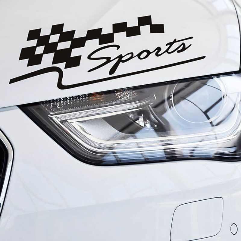 1 pçs decalque corrida esportes conjunto bandeira adesivos de carro auto motocicleta reflexivo vinil adesivo estilo do carro