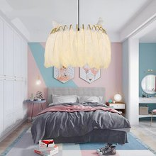 Modern LOFT LED Pendant Lamps Lights Circle Feather Led Chandelier Lighting Indoor Lighting 50CM 60CM Kitchen Fixtures Luminaire cheap fengshui Painted Parlor Study Master Bedroom other bedrooms Hotel Hall Hotel Room Cord Pendant Metal 15-30square meters