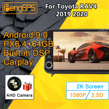 For Toyota RAV4 RAV 4 Android Radio 2019 2020 Car Multimedia Player PX6 Stereo Radio GPS Navi Head unit 11.8 inch NO 2 DIN 2din автомобильный dvd плеер joyous kd 7 800 480 2 din 4 4 gps navi toyota rav4 4 4 dvd dual core rds wifi 3g