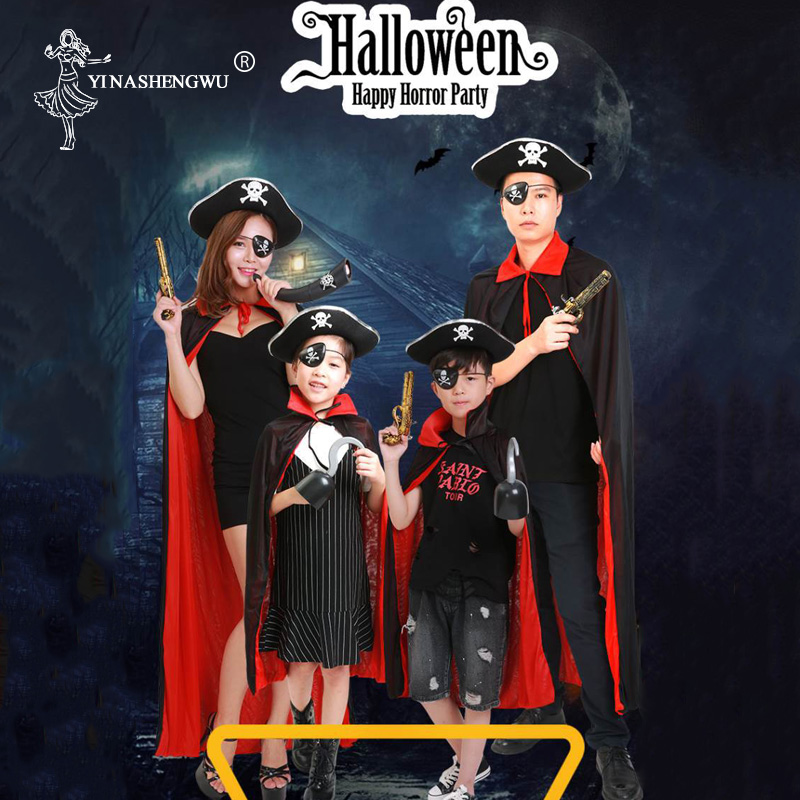 "Adult 45/"" Short Cape Costume Unisex Halloween Magician Phantom Collar Super Hero"