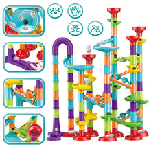 Toys Maze-Balls Track Race-Run Building-Blocks DIY for Children Construction-Marble Toy-Game