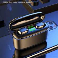 Bluetooth Wireless Headphones with 2200mAh Charging Case LED Power Display TWS Bluetooth Earphones