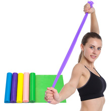Womens Yoga Stretch Belt Waist Leg Exercise Resistance Band Fitness TPE with Strength Training