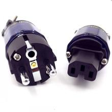 FURUTECH FI E11 N1(R) / FI 11 N1 (R) תקע חשמל רודיום סוף Schuko IEC 15A/125V 16A/ 250V MATIHUR