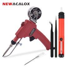 NEWACALOX 110V/220V 60W automatycznie wysyłaj lutownica ręczna lutownica wewnętrzne ciepło z wyłącznik zasilania narzędzie naprawcze do spawania