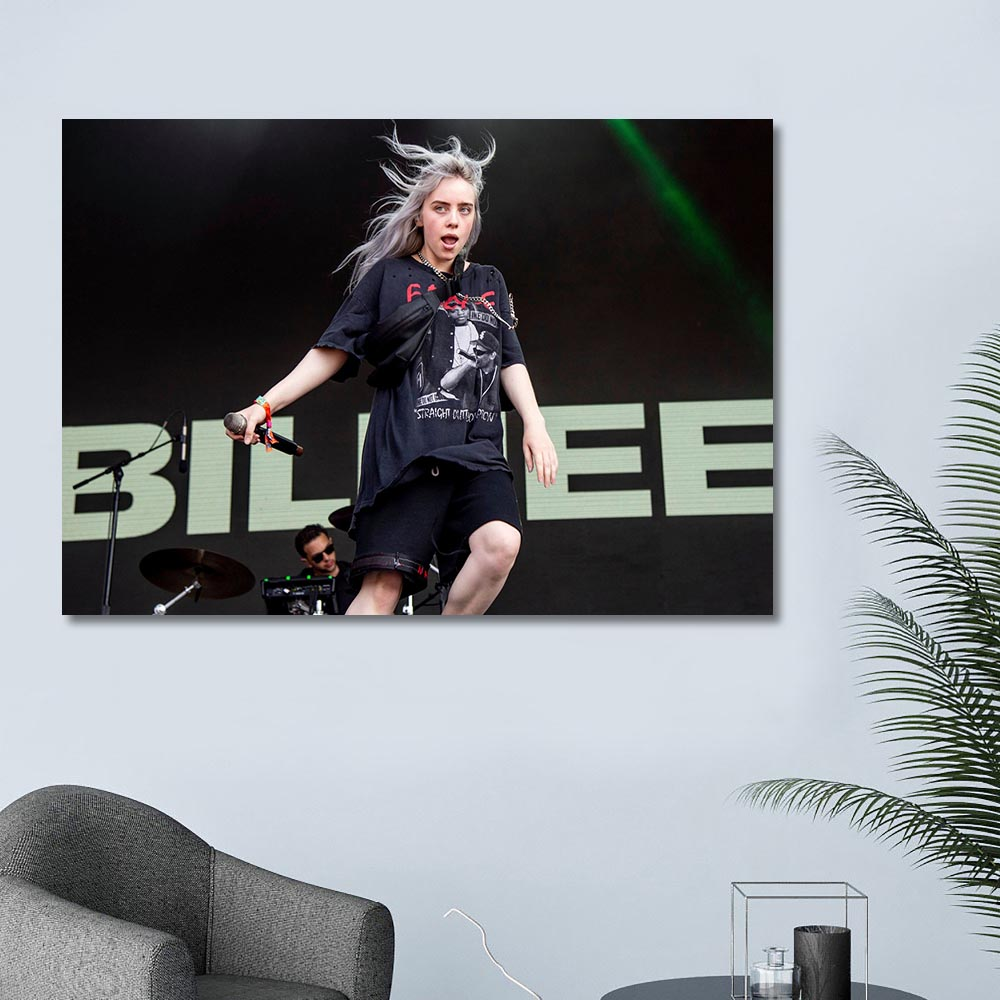 Home Decor Modular Poster Noridc Female Singer Billie Eilish Pictures Modern Wall Art Canvas Painting Printed for Living Room