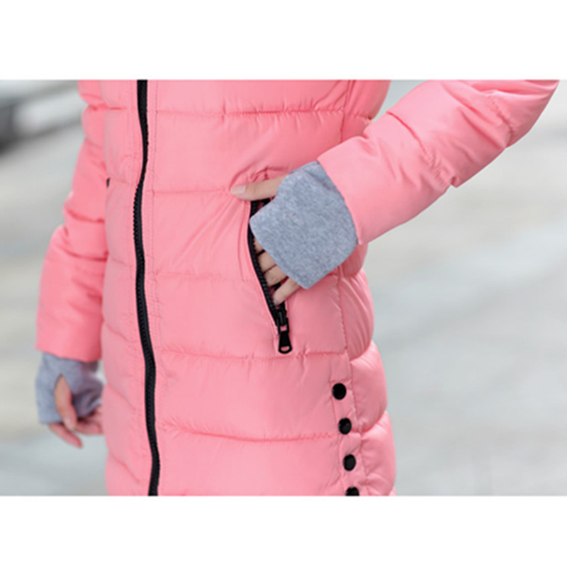 2018 Winter Jacket Women Plus Size Womens Jackets And Coats Female Cotton Padded Long Parka Korean Hooded Chaqueta Muje[]// 5