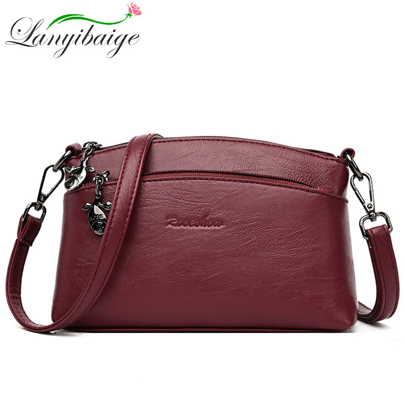 New 6 Colors PU Ladys Handbag Messenger Bag 2019 Fashion Shoulder Bag For Women Leather Bag Luxury Brand Women Crossbody Bags