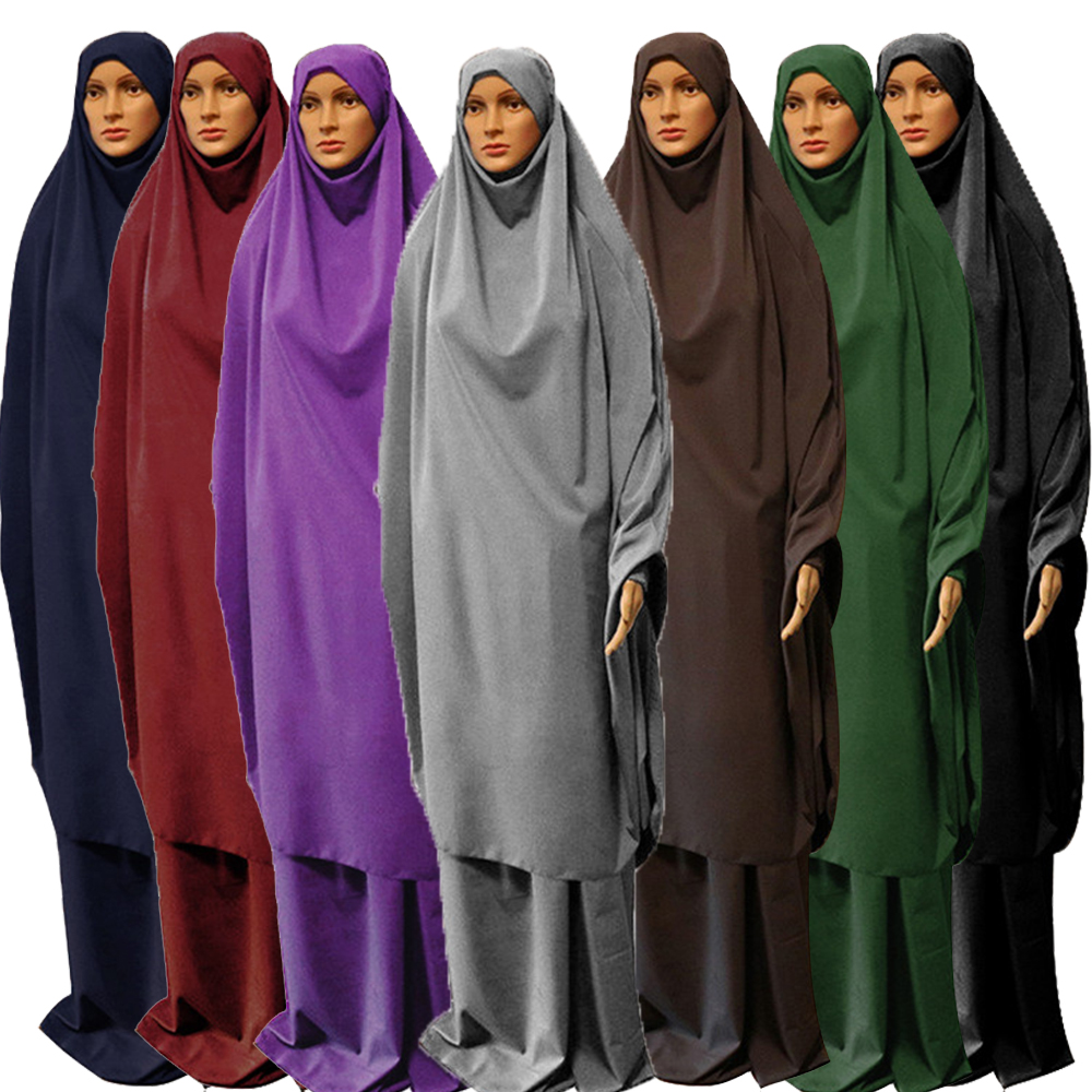 Ramadan Muslim Burqa Abaya Women Hijab Prayer Dress Islamic Overhead Burka Niqab Long Khimar Kaftan Robe Arab Clothing Musulman