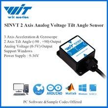 WitMotion SINVT 2แกนดิจิตอลมุมเอียงม้วนPitch Inclinometerและแรงดันไฟฟ้า0 5V IP67กันน้ำ & Anti Vibration
