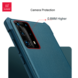 Image 4 - XUNDD עמיד הלם מקרה עבור Huawei P40 פרו מקרה טבעוני עור מגן כרית אוויר פגוש כיסוי מעטפת עבור Huawei P40 פרו כיסוי