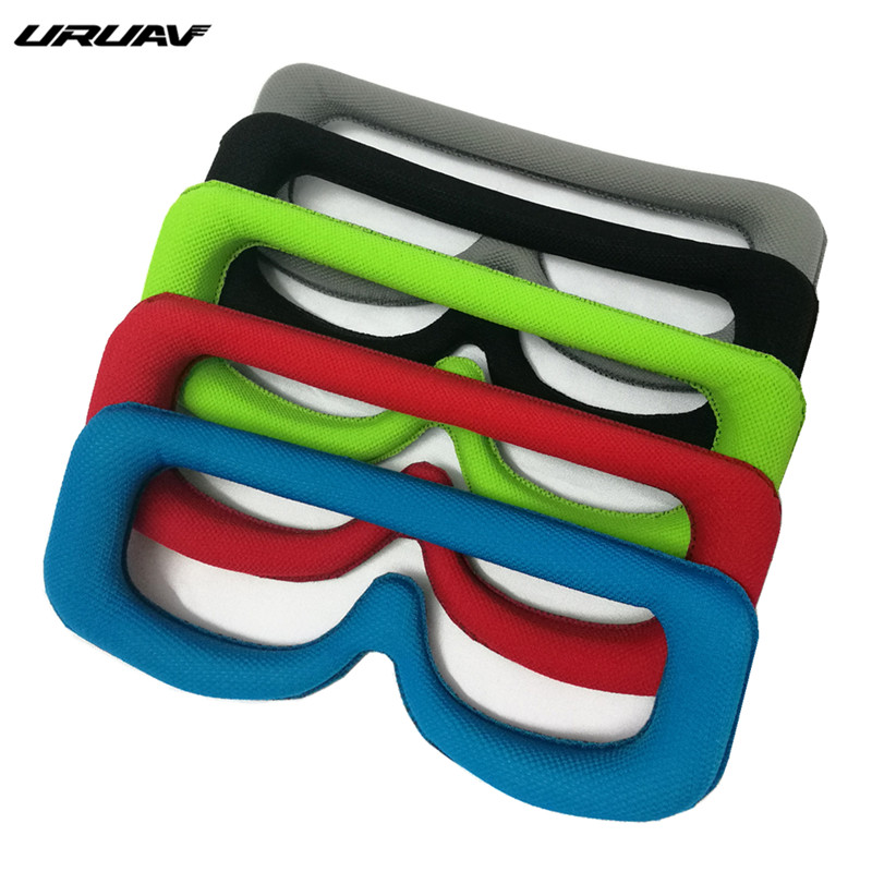 URUAV FPV Goggles Faceplate Lycr Fabric Sponge Pad Replacement W/ Head Strap For Eachine EV200D RC Drone Spare Part Accessories
