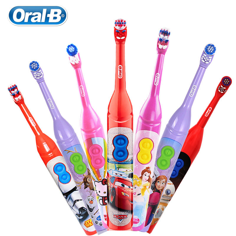 Oral B Kid Electric Toothbruh Disney Cartoon Tooth BrushPowered by AA Batery 7200 Times Rotation Type Deep Oral Clean Gum Crare image