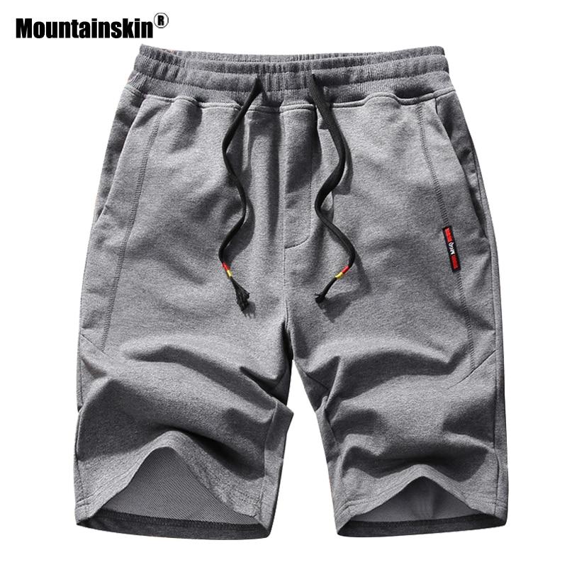 Mountainskin Mens Summer Shorts New Men's Casual Knit Cropped Short Pants Fashion Sports Running Knee Length Shorts Male SA911