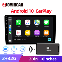 2.5D 10.1 ''2din Android 10 autoradio GPS Maltimedia lecteur vidéo Carplay DSP RDS autoradio FM Bluetooth Wifi 2GB + 32GB