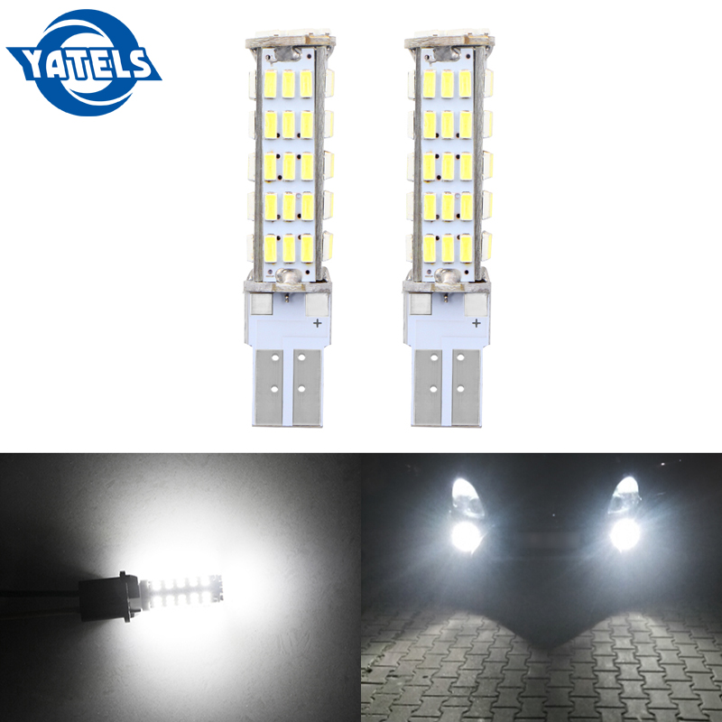 2 Pcs T10 W5W 68 LED 194 501 1206 SMD Car Style Indoor Light Clearance Light Width Lamp Marking Lamp Car Bulb DC 12V White