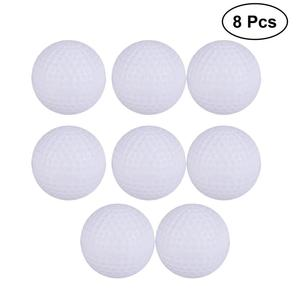 8pcs Plastic Golf Balls Game Toy Balls Indoor Outdoor Practice Balls for Kids Children Golfer (White)