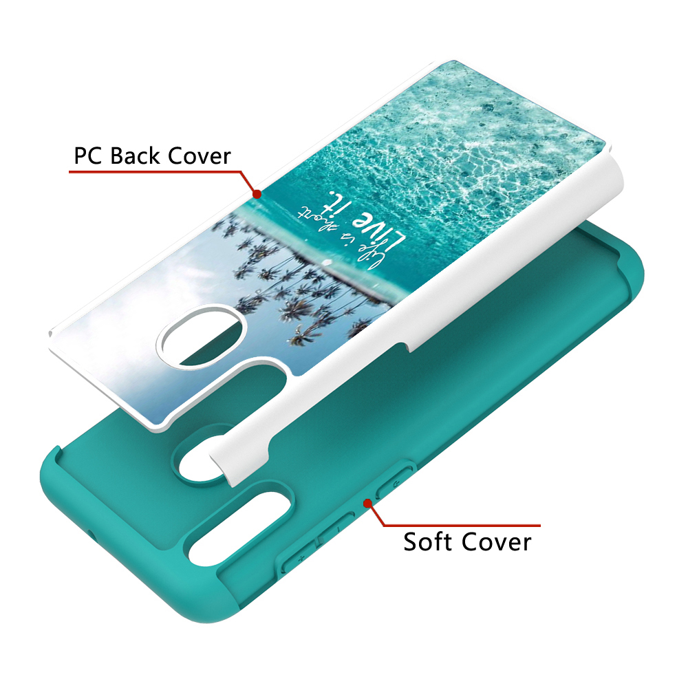 Image 4 - Lovely Painted Leather Phone Cases for Samsung Galaxy A20 A30 Case for Samsung A50 A20e A10e PC Back Cover Soft TPU Animal Coque-in Fitted Cases from Cellphones & Telecommunications