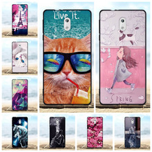 FOR Nokia 3 Case Luxury Silicone Soft TPU Back Cover For Coque 3D Cute Cat Pattern Bag Nokia3 5.0 Phone Cases