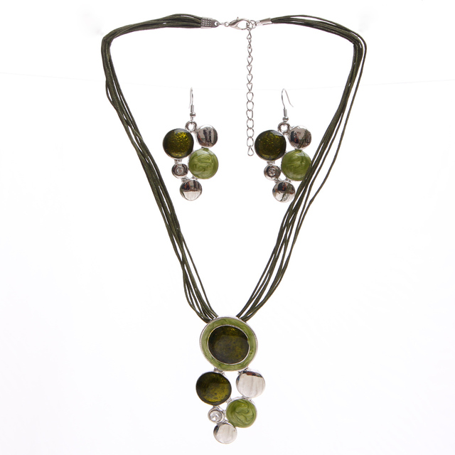 Jewelry Sets Green Rope...