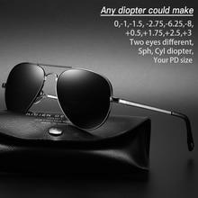 Gafas de sol miopía gafas de sol dioptrías polarizadas de gran tamaño gafas de sol de aviación para miopía hombres mujeres SPH CYL gafas miopes