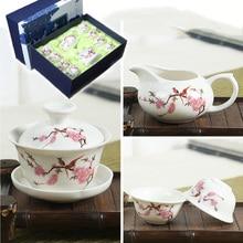 купить Chinese Tea Set Blue and white porcelain Kung Fu Tea Set Tureen Ceramic Tea Bowl Health Teapot teacup Master Cups Free shipping дешево