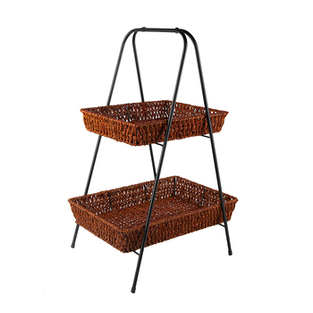 The living room floor-to-ceiling sofa side magazine material book newspaper fruit miscellaneous collection Nato grass basket