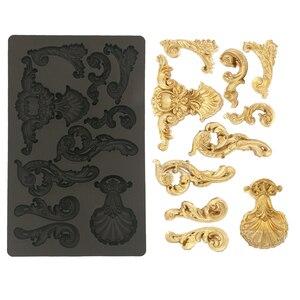 Рельефная силиконовая форма Totem Oceanica для украшения торта, кексов, сахарного ремесла, печенья, карт Глина Инструменты для выпечки