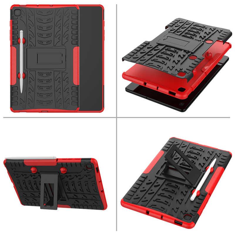 เกราะไฮบริดPC + TPUฝาครอบสำหรับSamsung Galaxy Tab S6 Lite 10.4 กรณีที่มีดินสอP610 P615 SM-P610 SM-P615 แท็บเล็ต