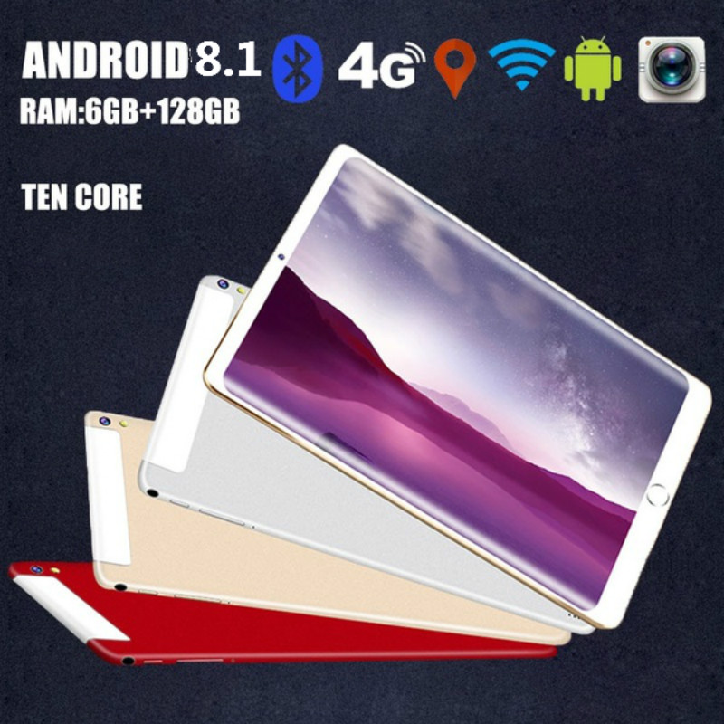 Original 10.1-inch Full-screen Dual-card Tablet WIFI Andriod 8.1 System Ten-core Large Memory 6G Memory +16/64 /128G ROM Tablet