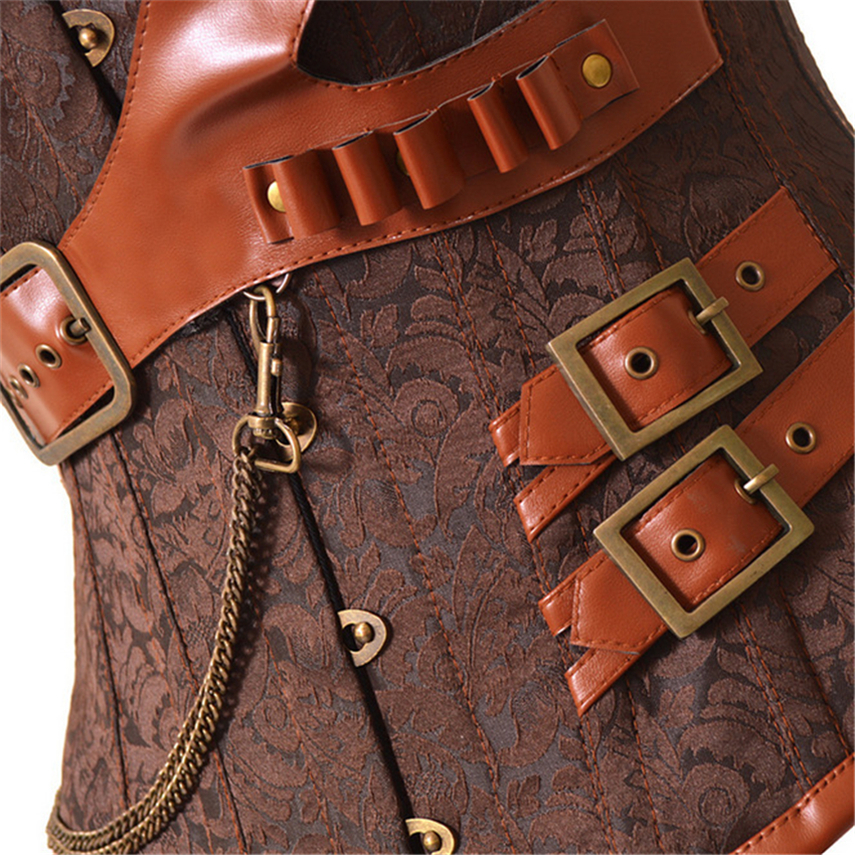 Image 4 - Middle Ages Costumes Gothic Corset Retro Lolita Strap Victoria Halloween Carnival Party Warrior Medieval Cosplay for Women Dress-in Holidays Costumes from Novelty & Special Use