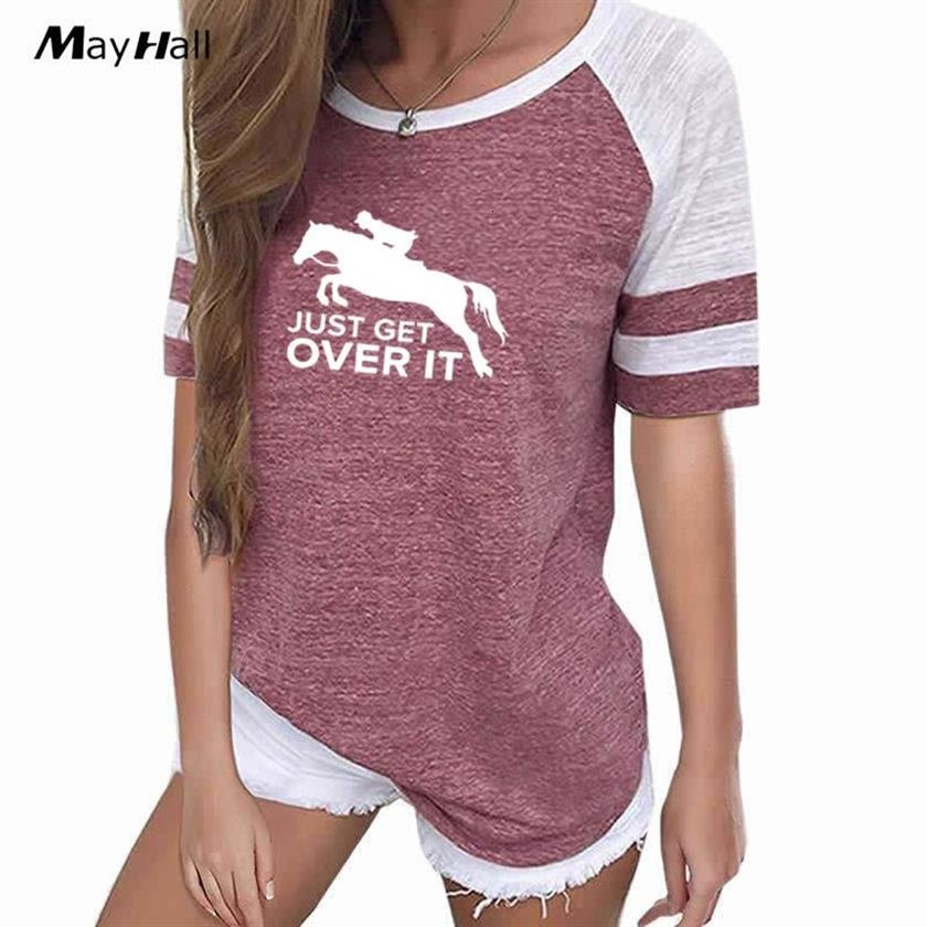 T-shirt Save a horse Ride a Cowboy Femme Marron