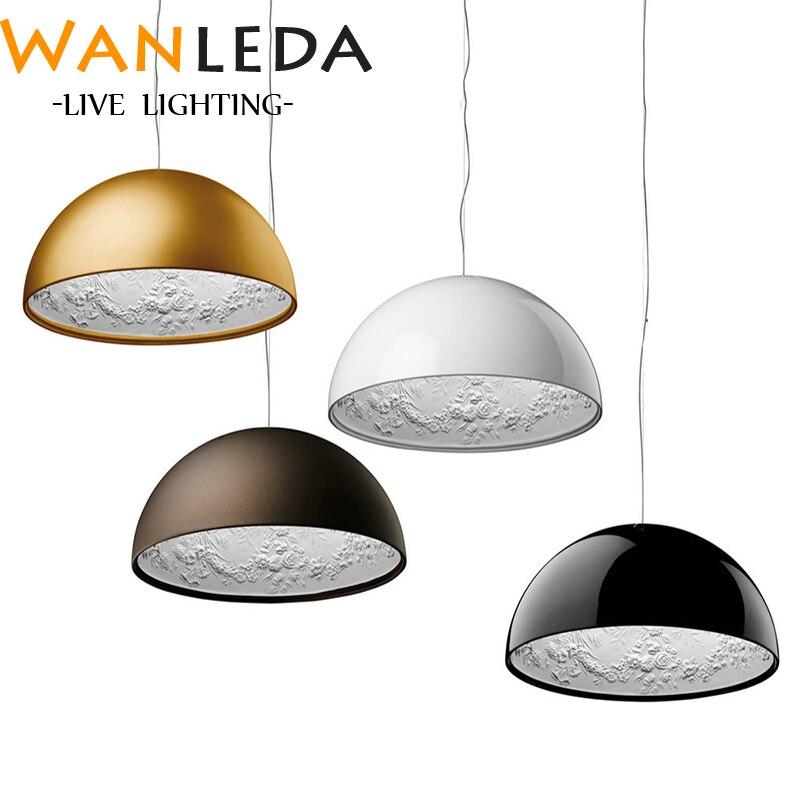 2019 le nouveau lustre italien SKYGARDEN résine Sculpture lustre salon salle à manger or brun blanc noir lustre éclairage