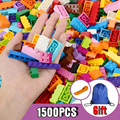 Building Blocks Colorful Bulk Bricks Base Plates DIY Small Size Building Blocks Compatible Block Toys for Children