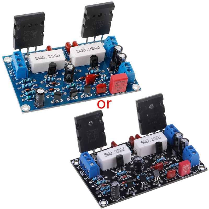 New 2SC5200+2SA1943 Dual DC 35V 100W Mono Channel HIFI Audio After Class Amplifier