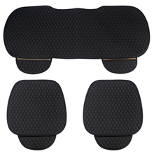 Universal Car Front Rear Seat Cover Breathable PU Leather Silicone Antiskid Fabric Pad Mat Cushion Auto Chair