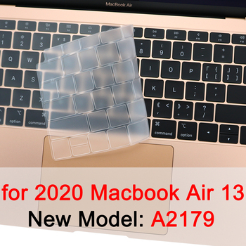цена на Sykiila for 2020 Macbook Air 13 inch TPU Keyboard Cover Thin Touch ID Matte Transparent Silicone Clear EU US A2179 New
