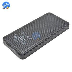Image 3 - 3 USB 7x18650 batterie bricolage batterie externe support de la boîte boîtier LCD affichage batterie Charge pour téléphone portable PC avec lampe de poche LED