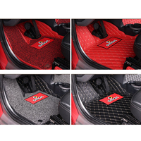 Car carpet floor mat anti dirt mat PU Leather foot pad For Mercedes 2014Smart Fortwo Coupe 451 car styling pedal mat Accessories