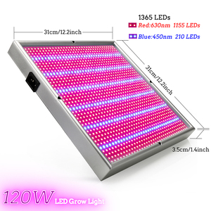 Image 4 - 120W 1155Red+210Blue AC85~265V LED Plant Grow Light Lamps For Flowering Plant and Hydroponics System Indoor Led fitolamp Panel