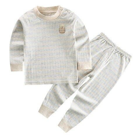2020 novas criancas meninos pijamas terno de manga comprida algodao conjunto de roupas infantis do