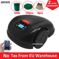 Two Year Warranty Smartphone APP Contorl Robot Lawn Mower E1600T With 13.2AH Li-ion Battery+100m wire+100pcs pegs+8pcs blade
