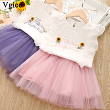 Vgiee Toddler Clothes 2 Piece Girl Set T Shirt Dress Summer Kids Set Child Girls Clothes 3 To 7 Years Girl Dresses Party Outfits heartbreak of a hustler s wife