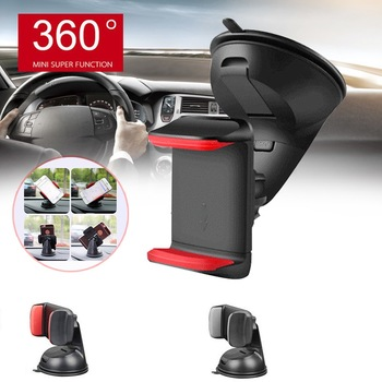 95mm Extendable Windshield Car Holder Rotatable Car Phone Holder Universal GPS Stand Mount Support Window Glass Car Holder 1